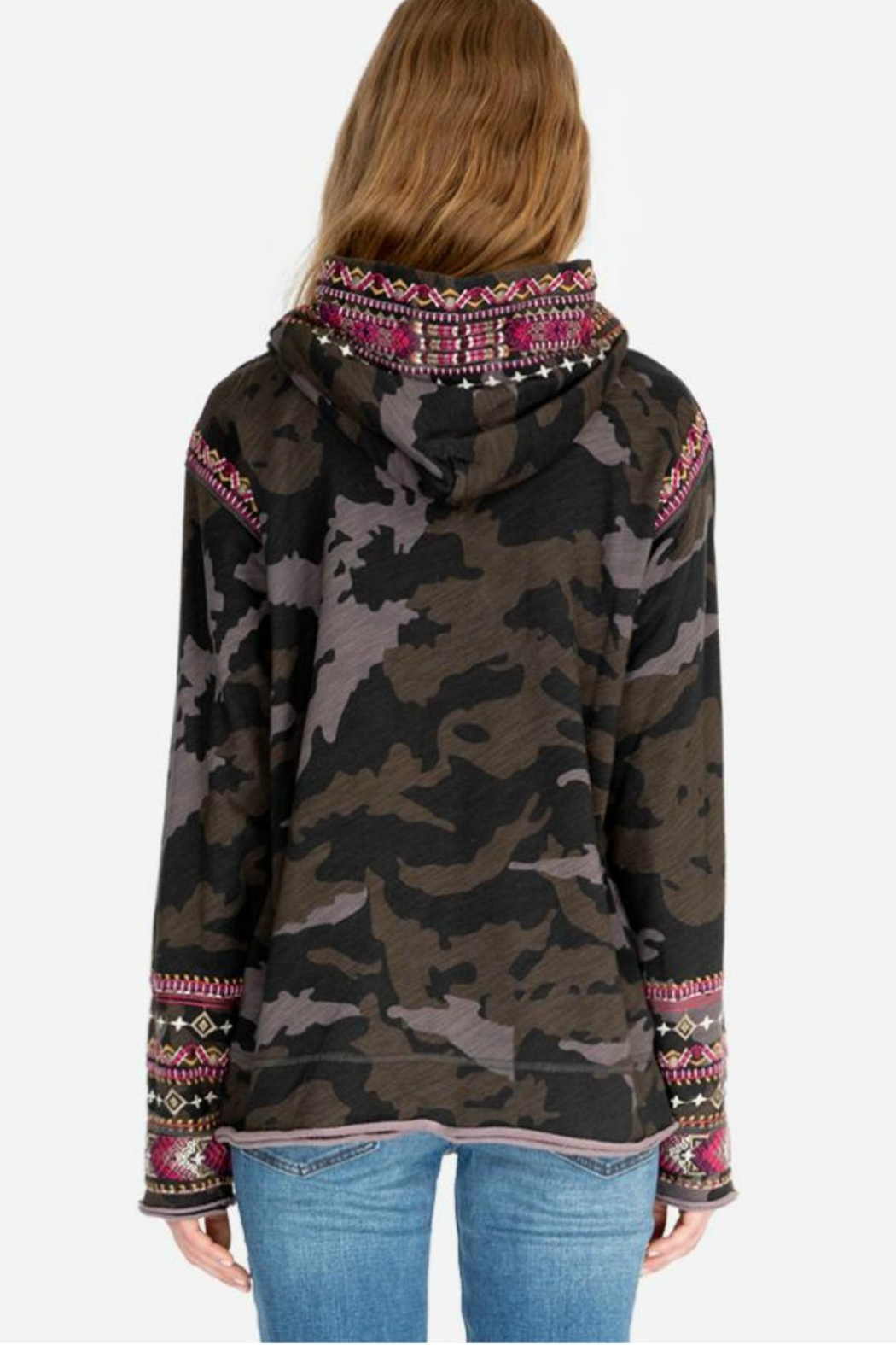 Johnny Was Camo Hoodie - Side Cropped Image