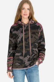 Johnny Was Camo Hoodie - Front cropped
