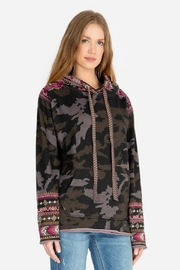 Johnny Was Camo Hoodie - Front full body