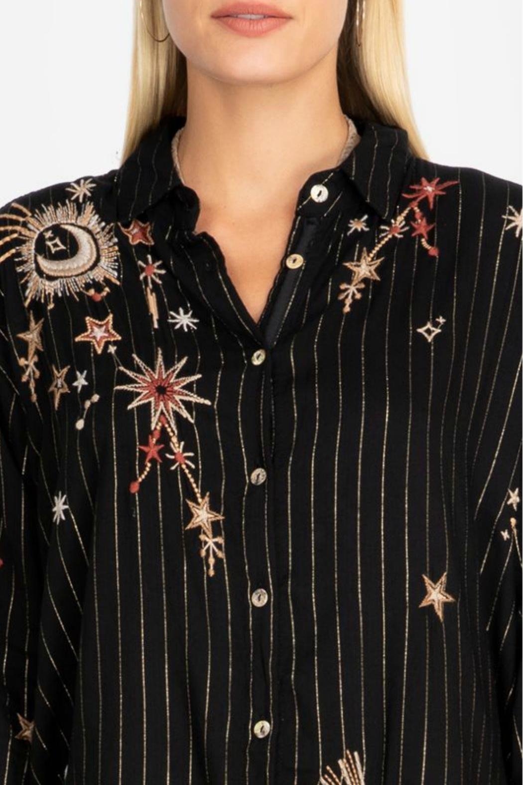 Johnny Was Celestial Print Tunic - Back Cropped Image