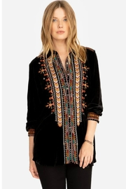 Johnny Was Chiri Velvet Tunic - Front cropped