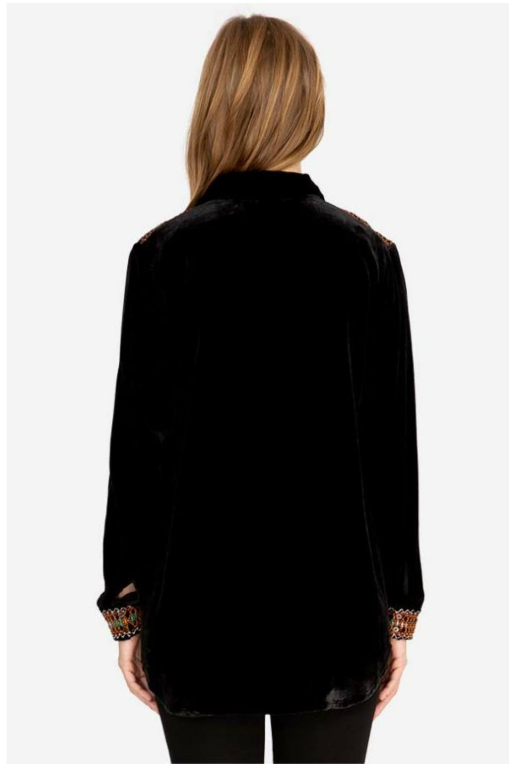 Johnny Was Chiri Velvet Tunic - Side Cropped Image