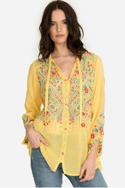 Johnny Was Citron Embroidered Top - Product Mini Image