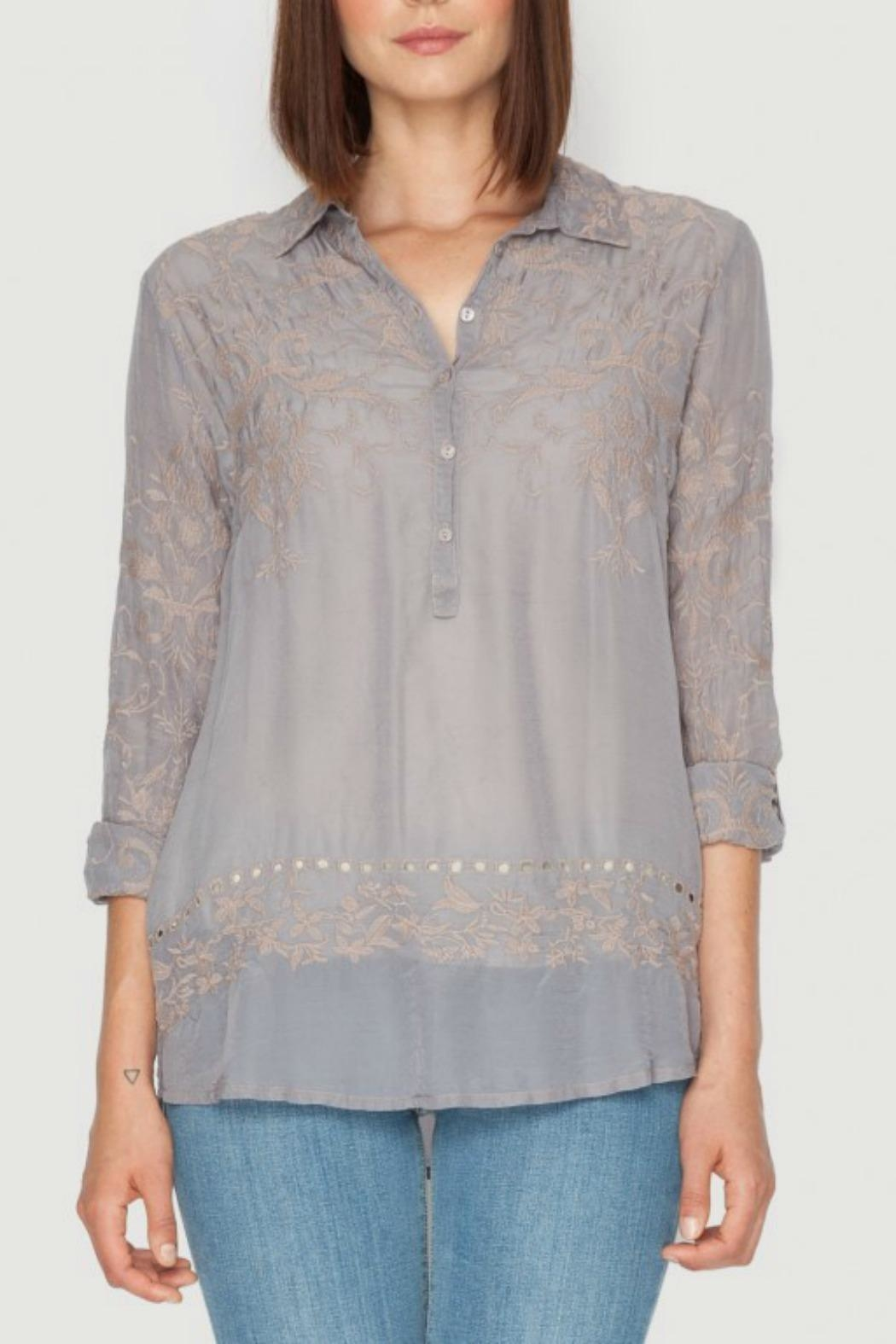 Johnny Was Filigree Embroidered Blouse - Main Image