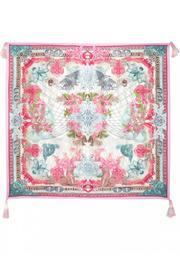 Johnny Was Silk Color Currency Scarf - Product Mini Image