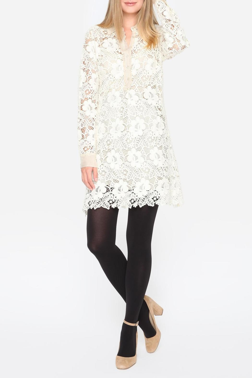 Johnny Was Crochet Sleeve Dress - Front Cropped Image