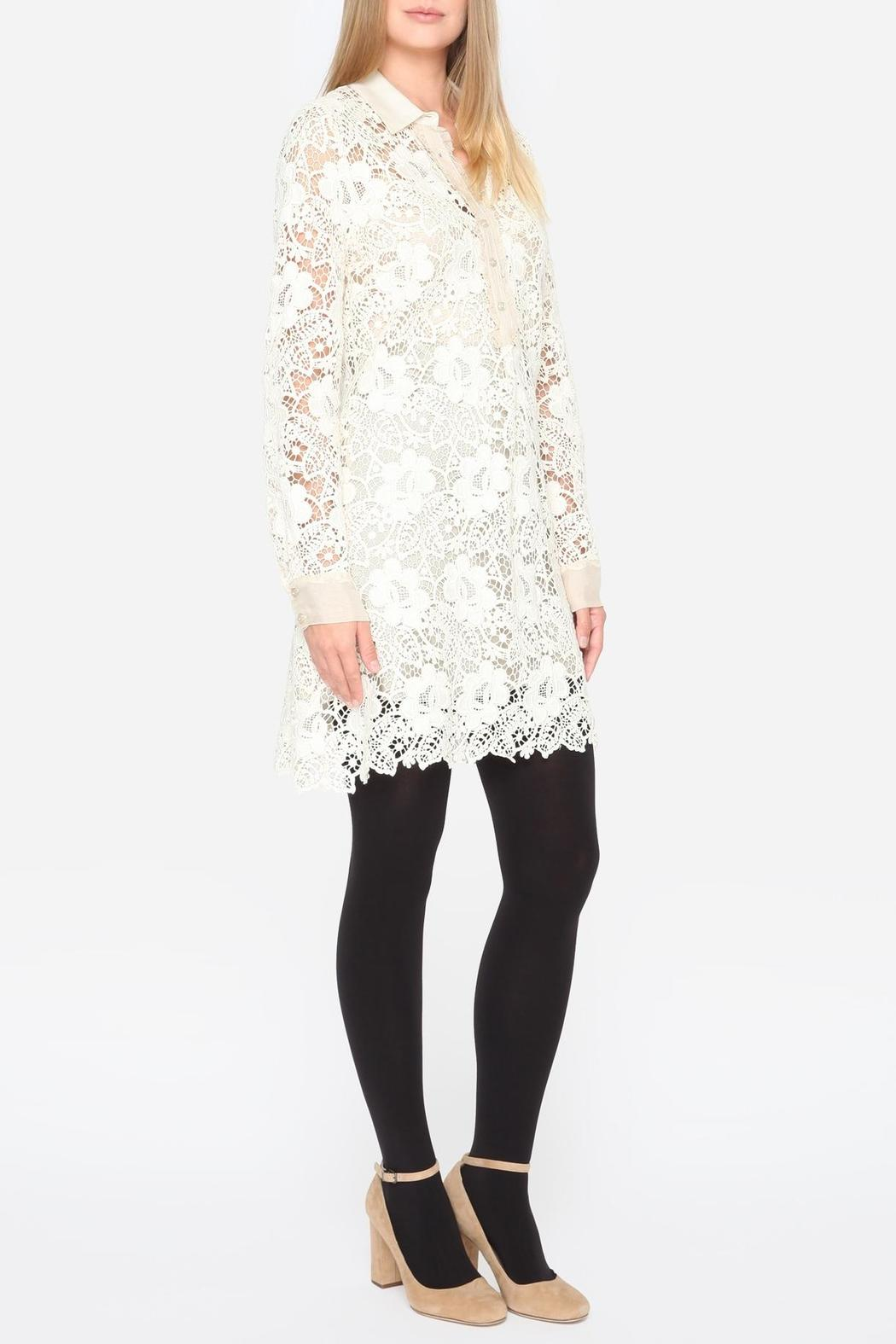 Johnny Was Crochet Sleeve Dress - Side Cropped Image