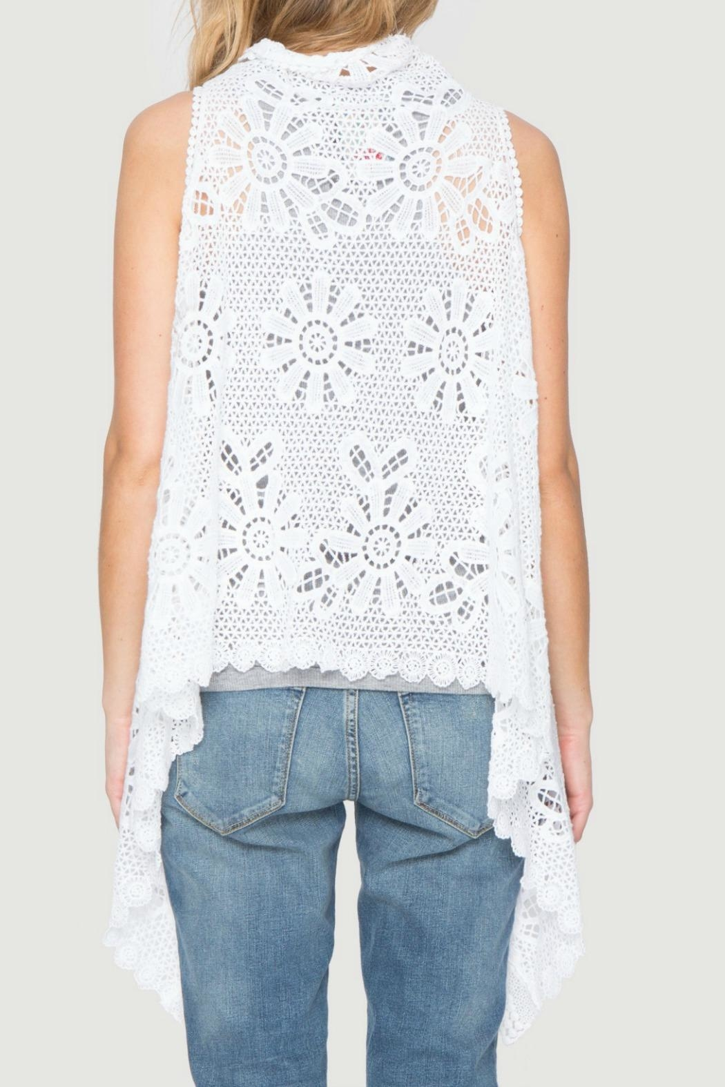 Johnny Was Crochet Sleeveless Wrap - Front Full Image
