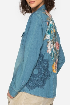 Shoptiques Product: Denim Embroidered Shirt