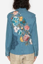 Johnny Was Denim Embroidered Shirt - Side cropped