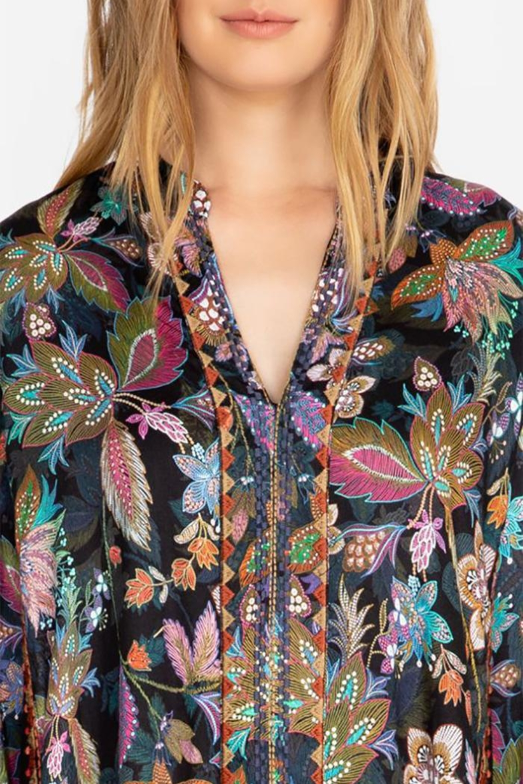 Johnny Was Effortless Swing Blouse - Side Cropped Image
