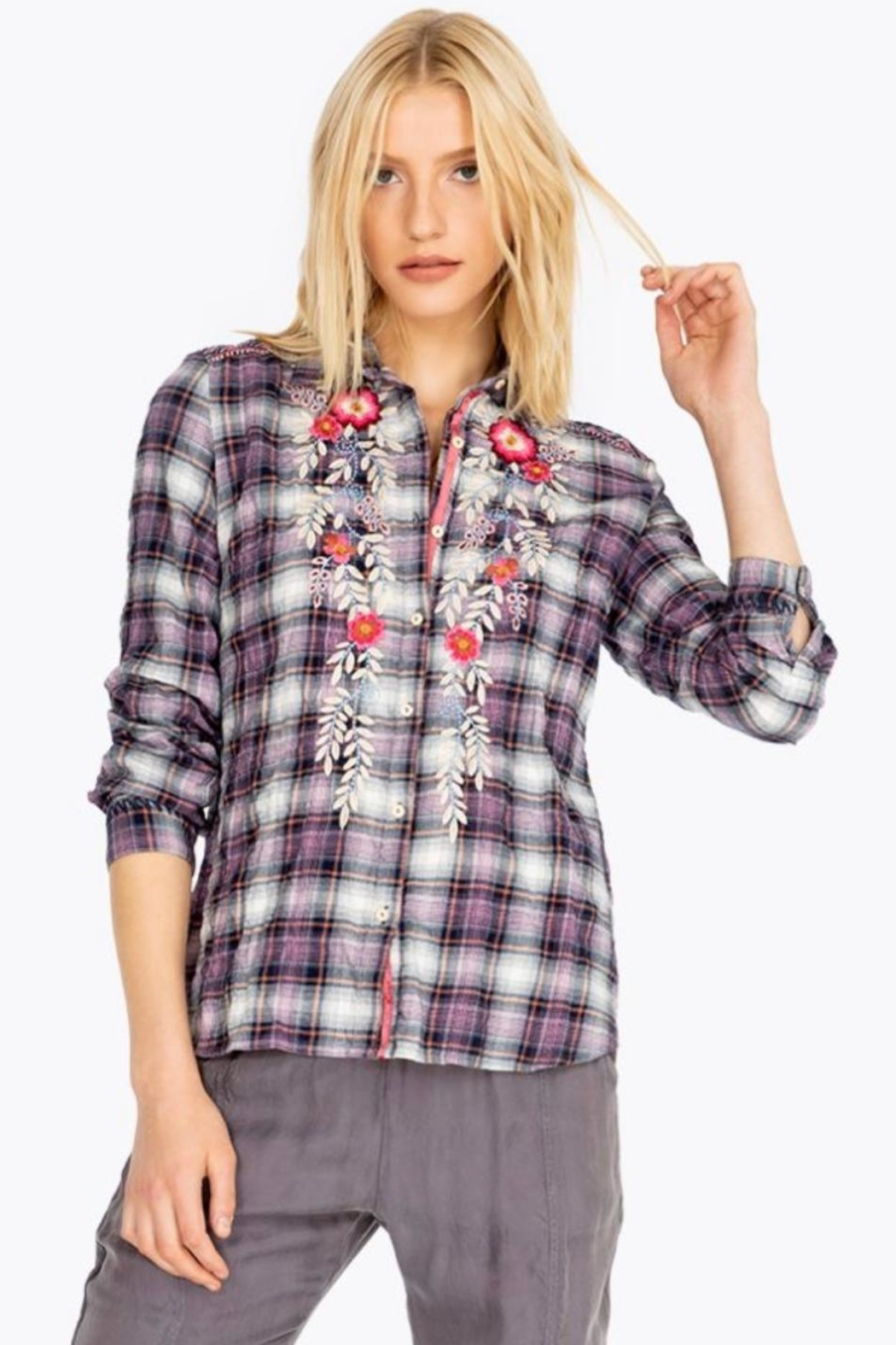 Johnny Was Ellie Button-Back Shirt - Main Image