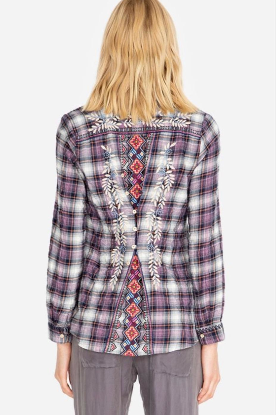 Johnny Was Ellie Button-Back Shirt - Front Full Image
