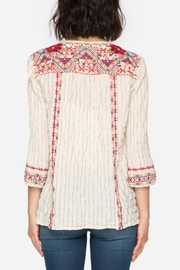 Johnny Was Embroidered Boho Blouse Top - Front full body