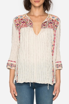 Shoptiques Product: Embroidered Boho Blouse