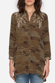 Johnny Was Embroidered Camo Tunic Top - Product Mini Image