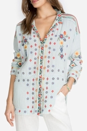 Johnny Was Embroidered Cotton Blouse - Product Mini Image