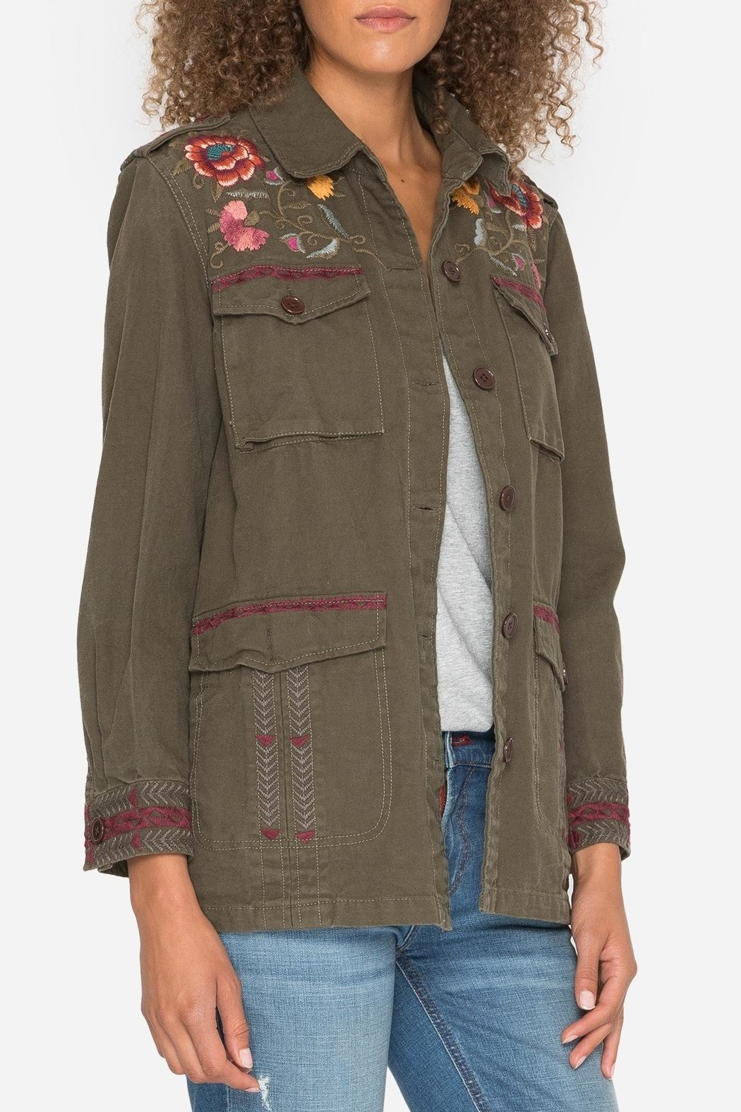 Johnny Was Embroidered Military Jacket - Side Cropped Image