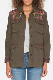 Johnny Was Embroidered Military Jacket - Front full body