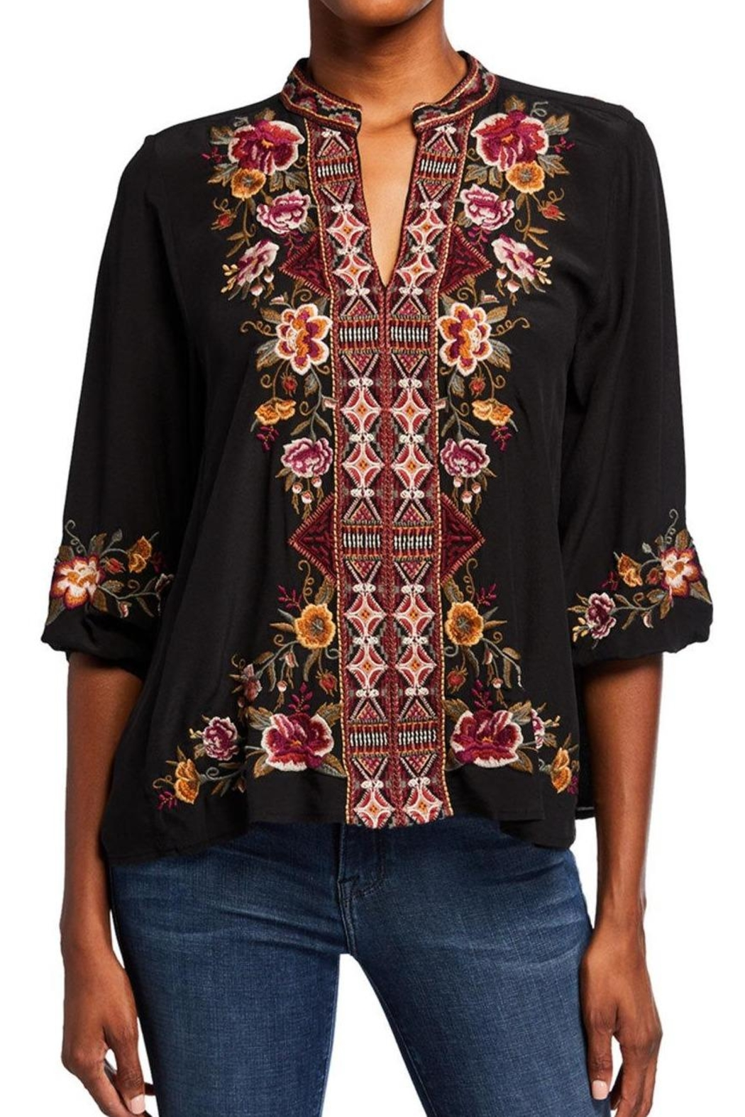 Johnny Was Embroidered Nepal Blouse - Main Image