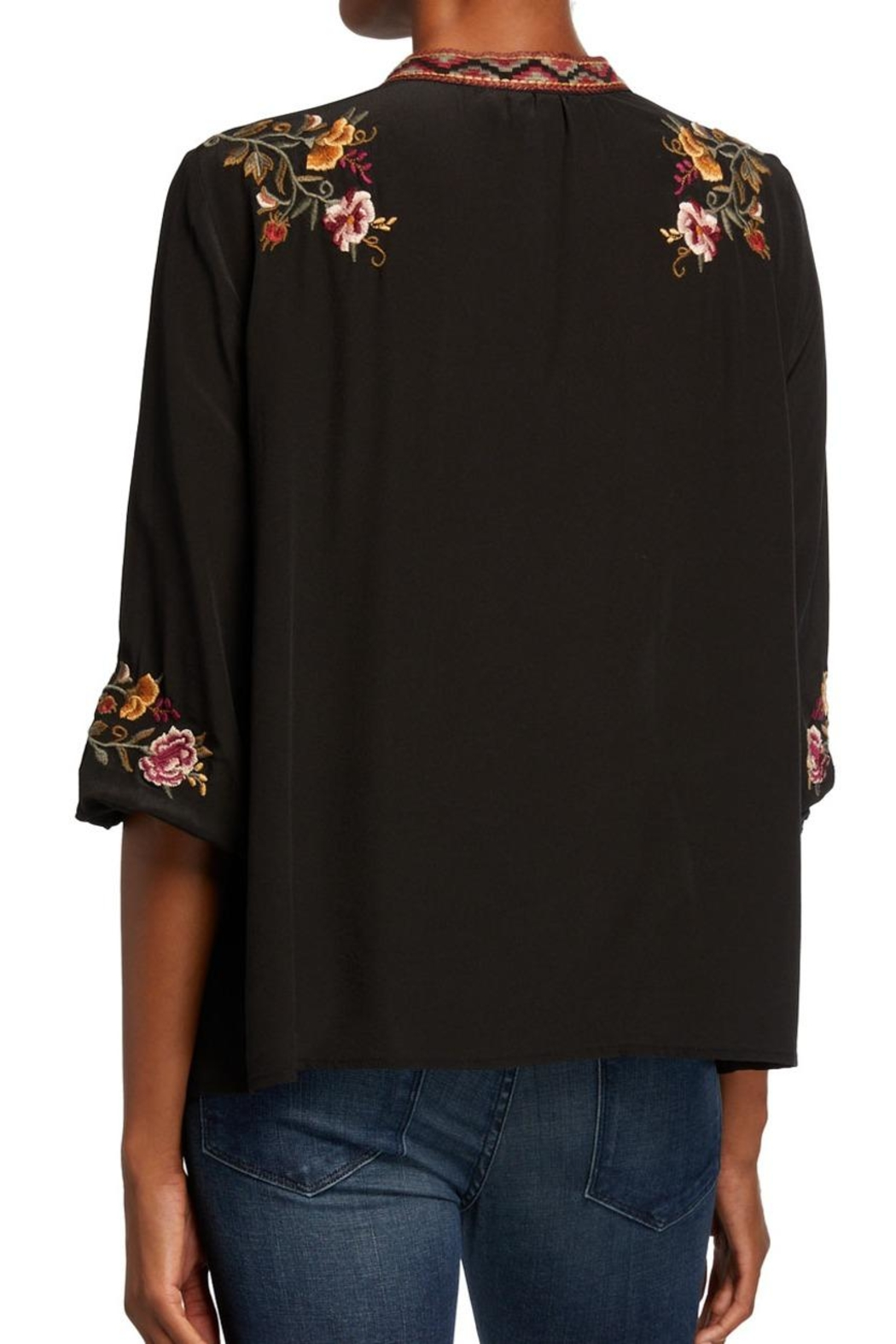Johnny Was Embroidered Nepal Blouse - Front Full Image