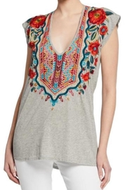 Johnny Was Embroidered Sleeveless Tee - Product Mini Image