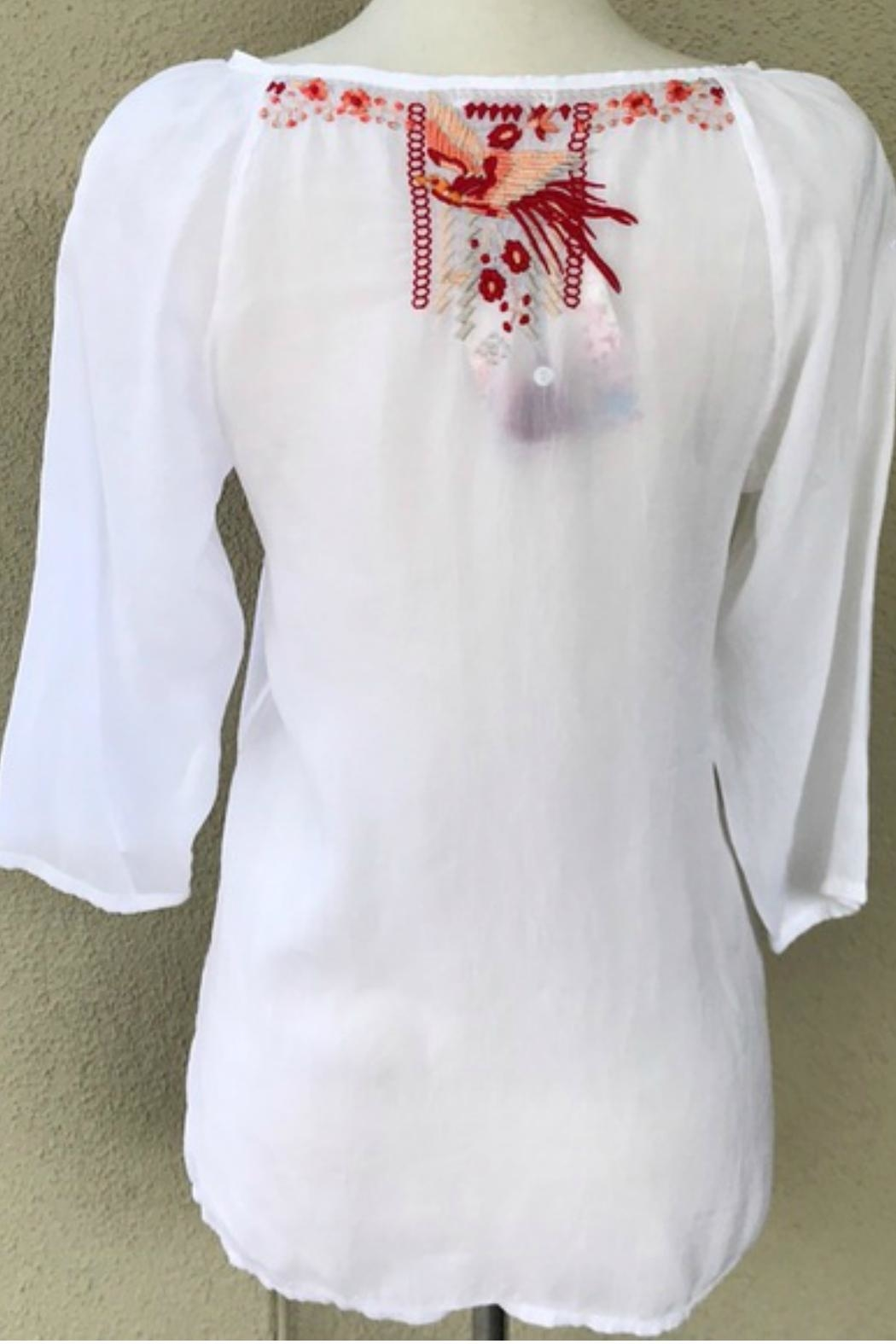 Johnny Was Embroidered Tunic - Front Full Image