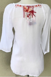 Johnny Was Embroidered Tunic - Front full body