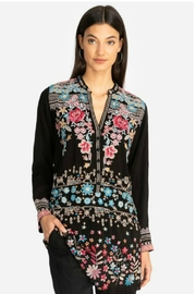 Johnny Was Embroidered Tunic - Front cropped