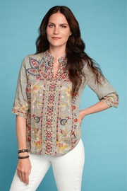 Johnny Was Embroidered V-Neck Top - Product Mini Image
