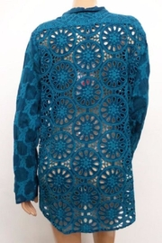 Johnny Was Eyelet Back Shirt - Front full body