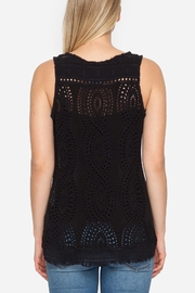 Johnny Was Eyelet Embroidered Tank - Front full body