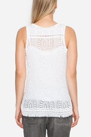 Johnny Was Eyelet Embroidered Tank - Side cropped