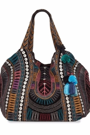 Johnny Was Gaia Velvet-Embroidered Tote - Front cropped