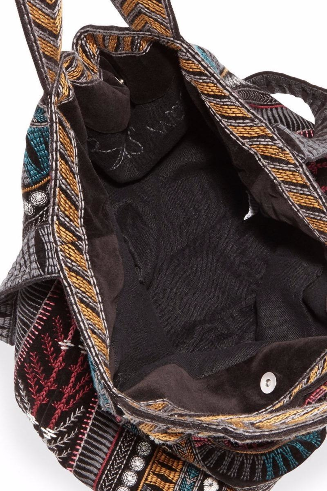Johnny Was Gaia Velvet-Embroidered Tote - Front Full Image