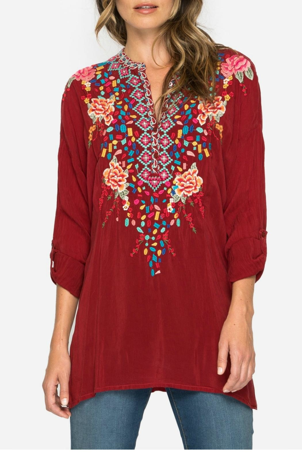 Johnny Was Gemstone Tunic Top - Main Image