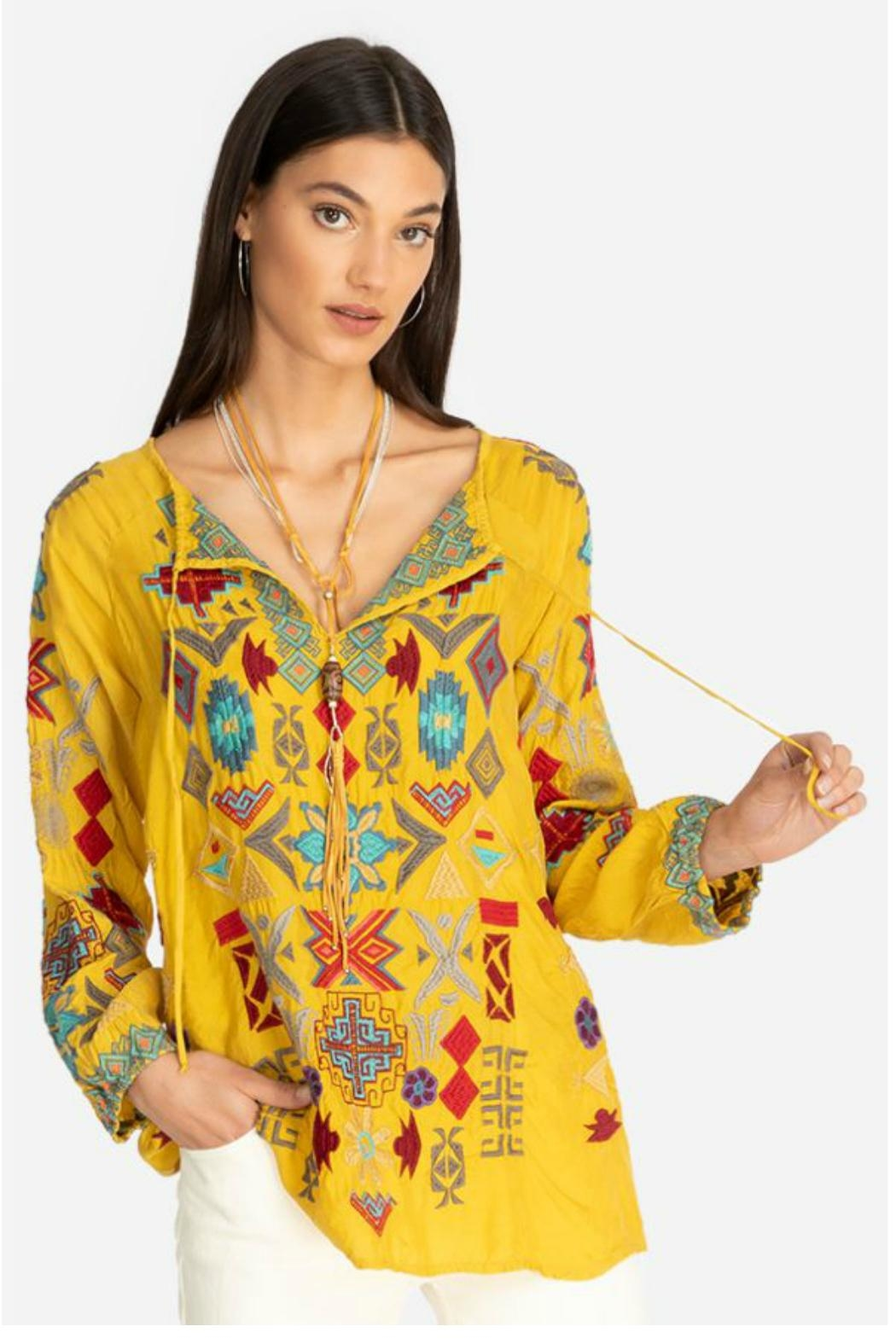 Johnny Was Goldenrod Embroidered Tunic - Main Image