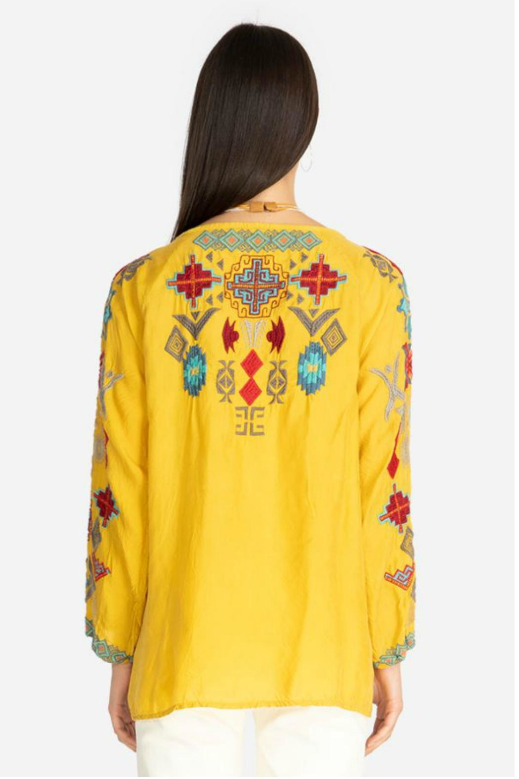 Johnny Was Goldenrod Embroidered Tunic - Side Cropped Image
