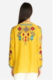 Johnny Was Goldenrod Embroidered Tunic - Side cropped