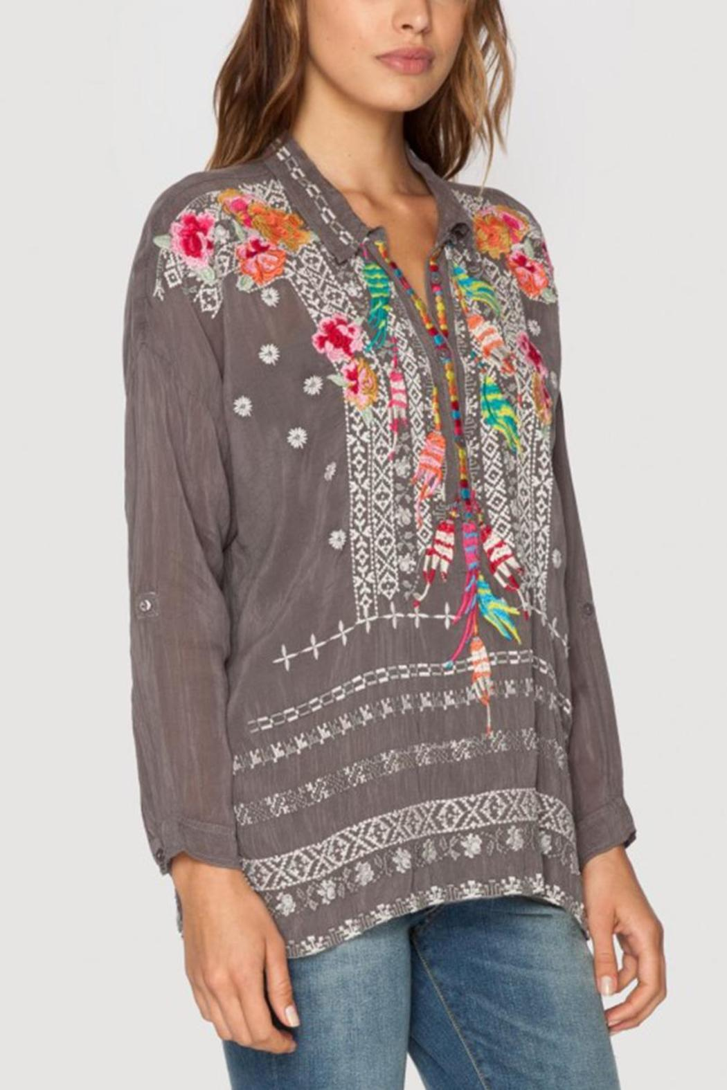 Johnny Was Indie Feather Blouse from Columbus by Happy Go Lucky ... 7193e2bc5d5d