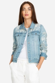 Johnny Was Ivory Eyelet Denim-Jacket - Product Mini Image
