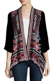 Johnny Was Izzy Velvet Cardigan - Product Mini Image