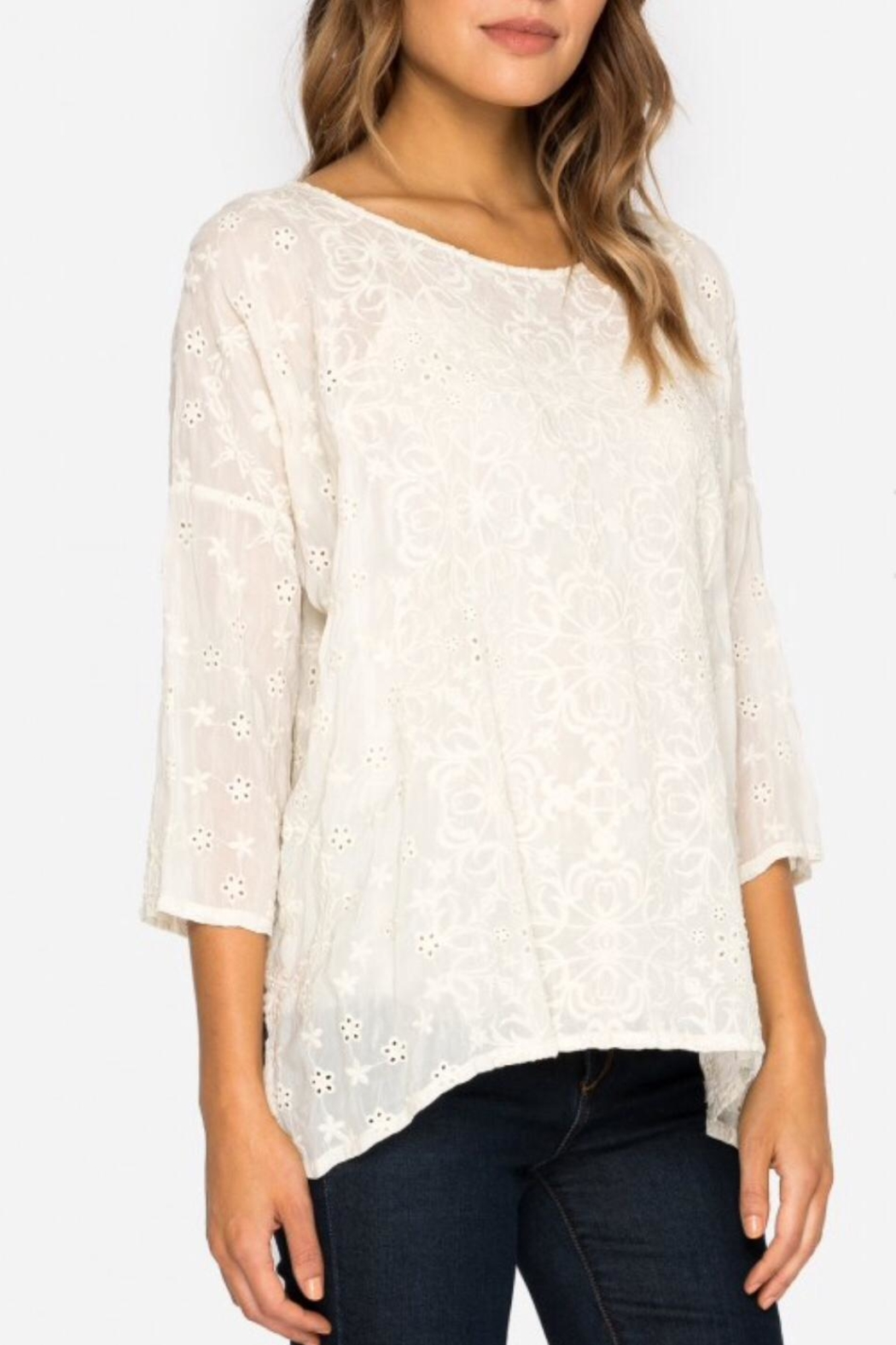 Johnny Was Jossy Embroiderd Blouse - Side Cropped Image