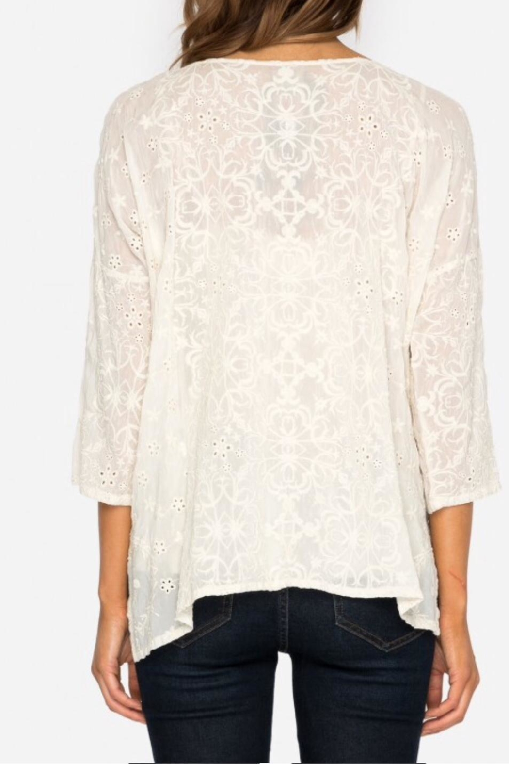Johnny Was Jossy Embroiderd Blouse - Back Cropped Image