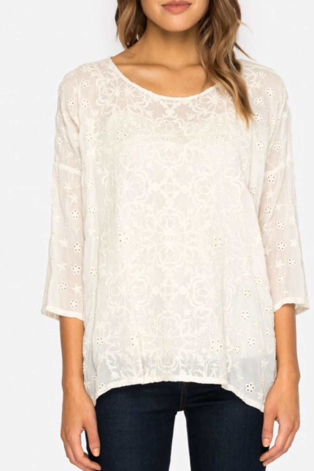 Johnny Was Jossy Embroiderd Blouse - Front Full Image