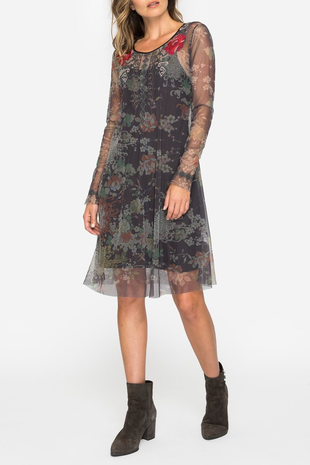 Johnny Was Junip Mesh Dress - Front Cropped Image