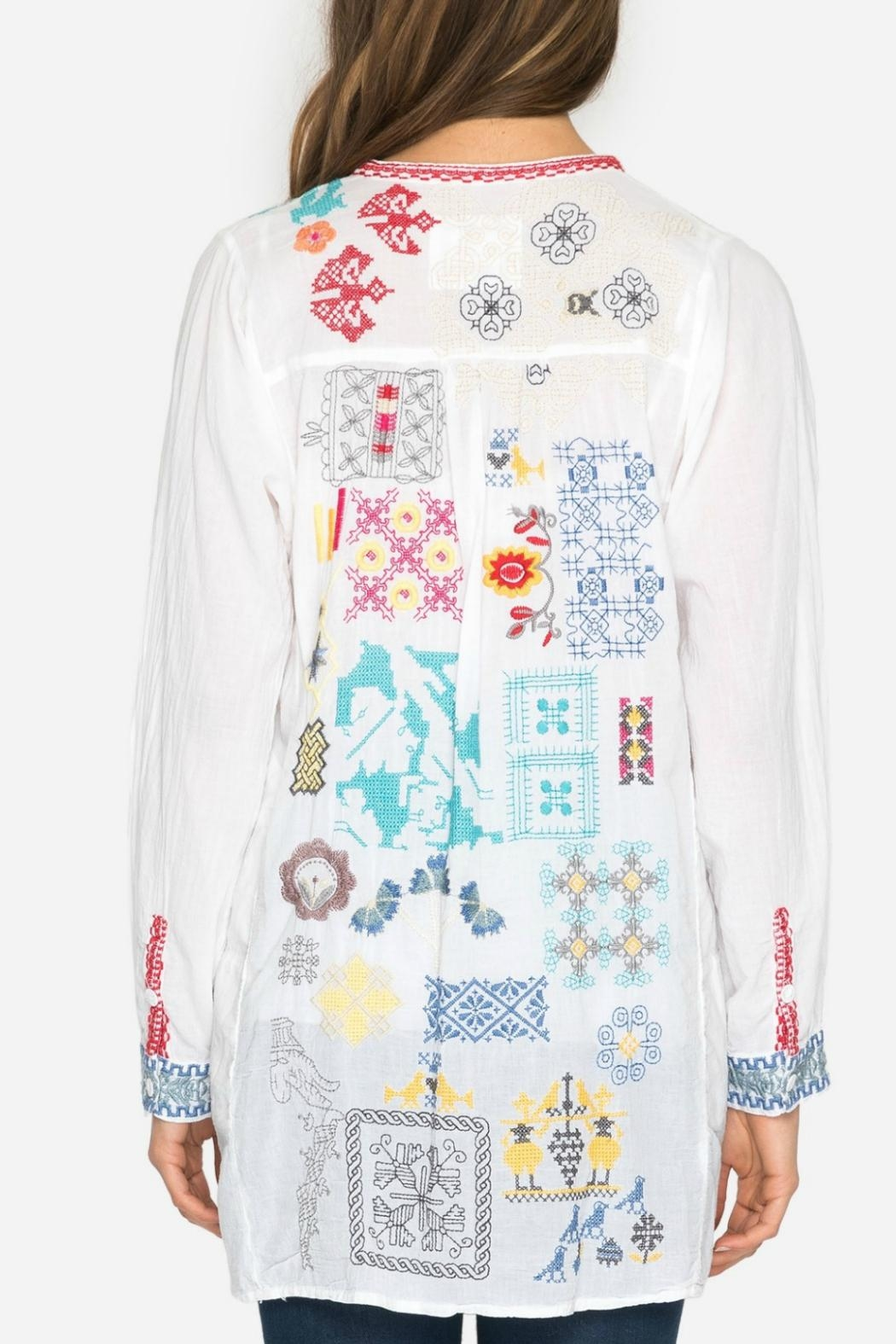 Johnny Was Juno Embroidered Tunic - Back Cropped Image