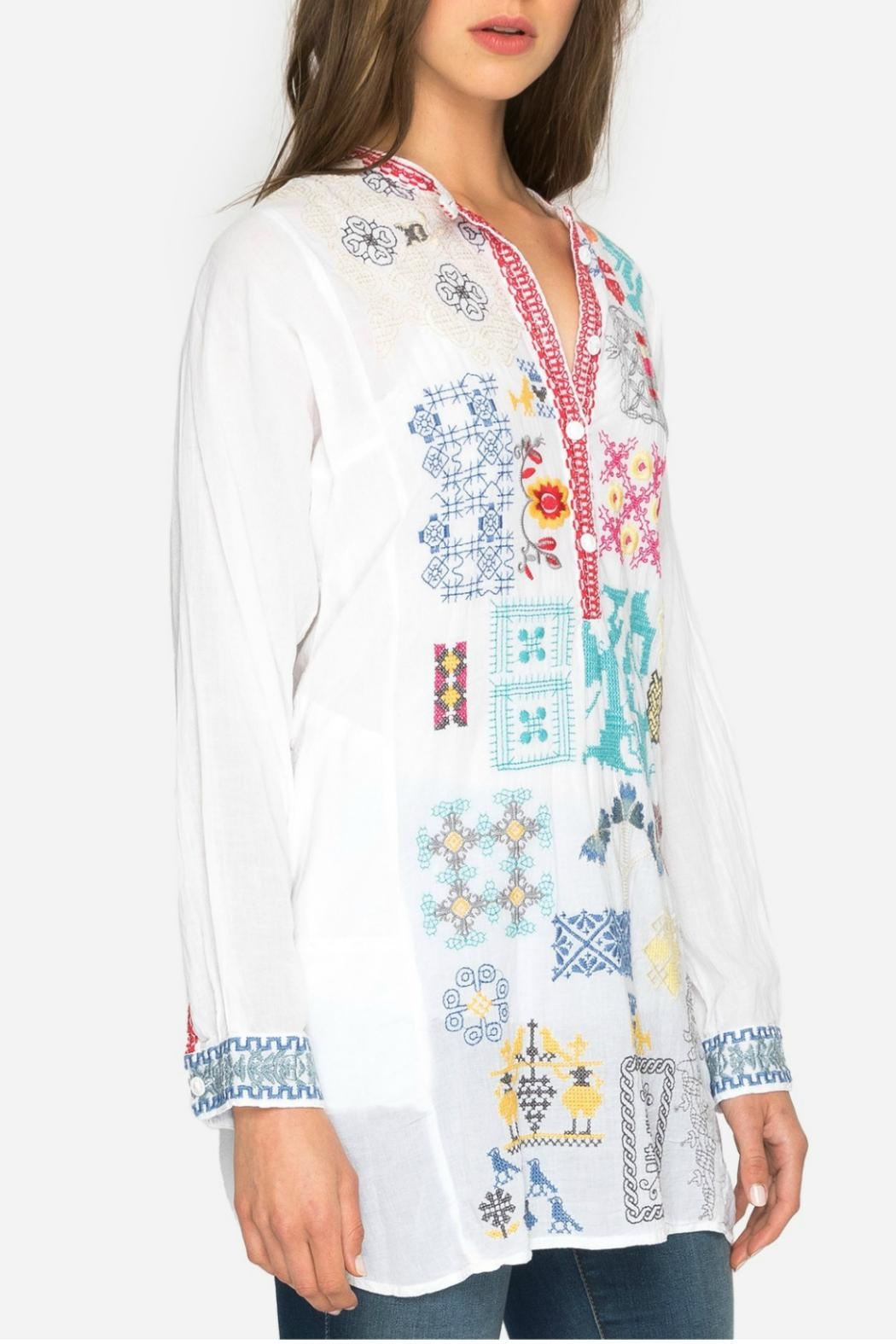 Johnny Was Juno Embroidered Tunic - Main Image