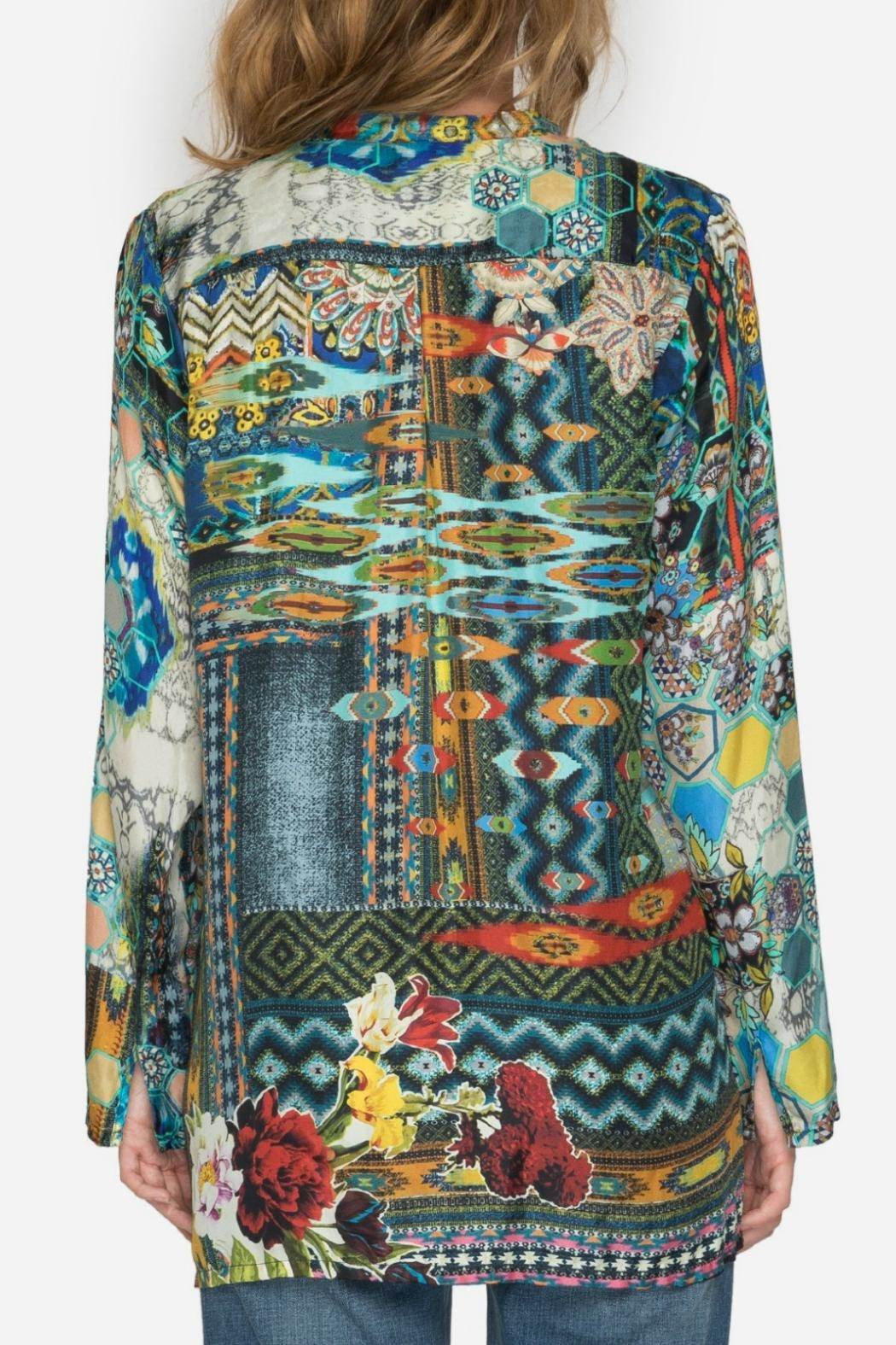 Johnny Was Kaleidoscope Print Blouse - Front Full Image