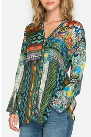 Johnny Was Kaleidoscope Print Blouse - Product Mini Image